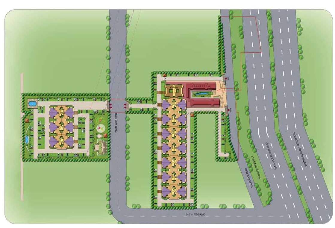 Signature Global Affordable The Roselia Sector 95A Site Plan